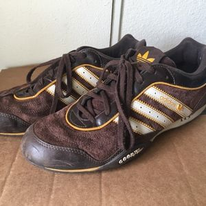 ADIDAS team goodyear driving brown suede leather